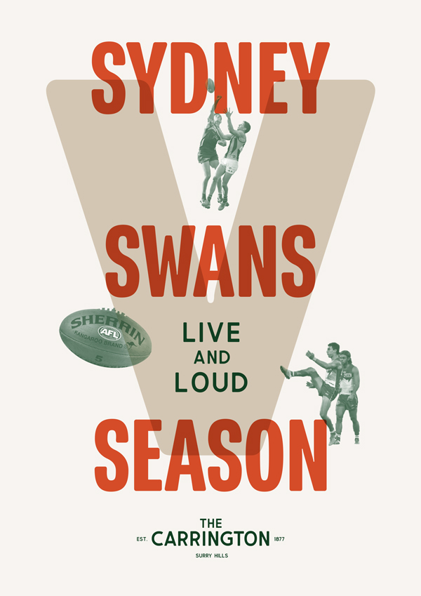 Watch the Sydney Swans live and loud at The Carrington Surry Hills