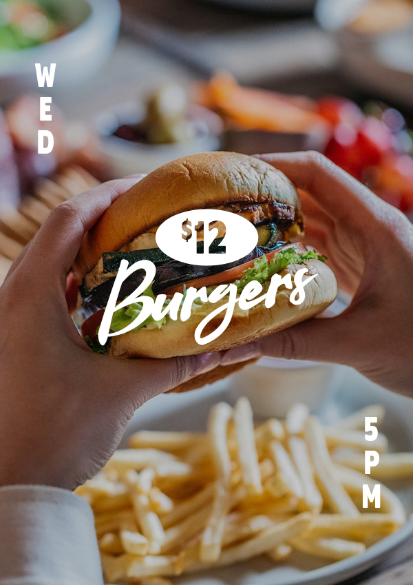 $12 burgers every Wednesday at The Carrington Surry Hills